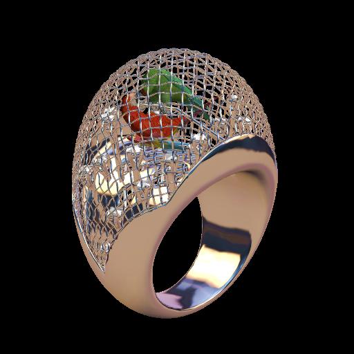 Anello Pappagalli (Clicca per Vedere in 3D)