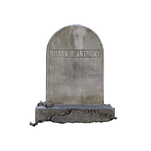 Susan B. Anthony Headstone