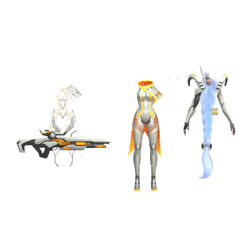 P3d In Cosplay Parted Lesley Epic Skin Model