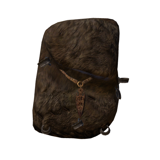 Backpack, Brown Fur (Akatosh) (Click to view in 3D)