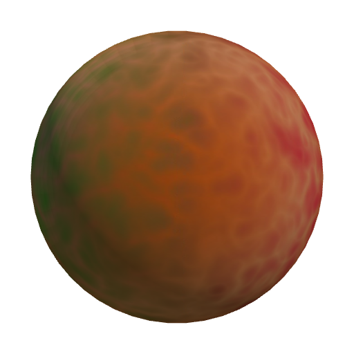 jupiter,mottled,red,orange,pinks,greens,large,round