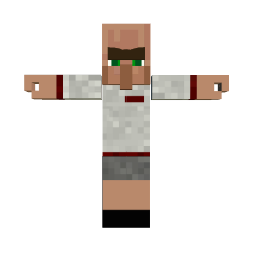 Minecraft Villager Football player
