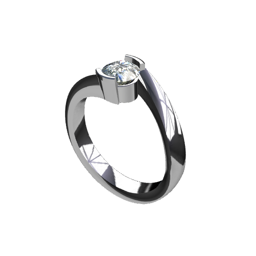 Twisted Bezel Ring
