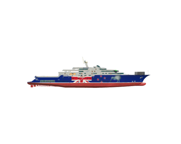 "SimDocks 3D model Mega Yacht ""Kiwi of the Sea"""