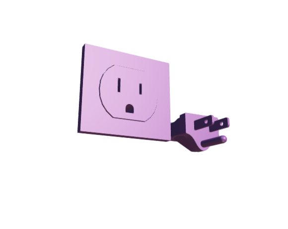 3D-Dimensions-Fixtures-Electrical-Plugs-Sockets-Type-B-Plug-Socket