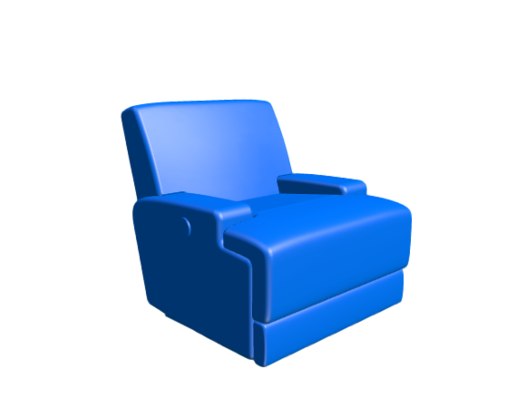 3D-Dimensions-Guide-Furniture-Recliner-IKEA-Vannas-Reclining-Armchair