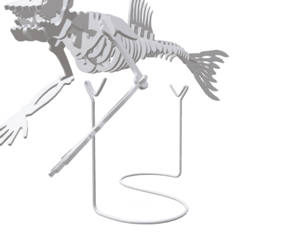 Fiji Mermaid wire stand