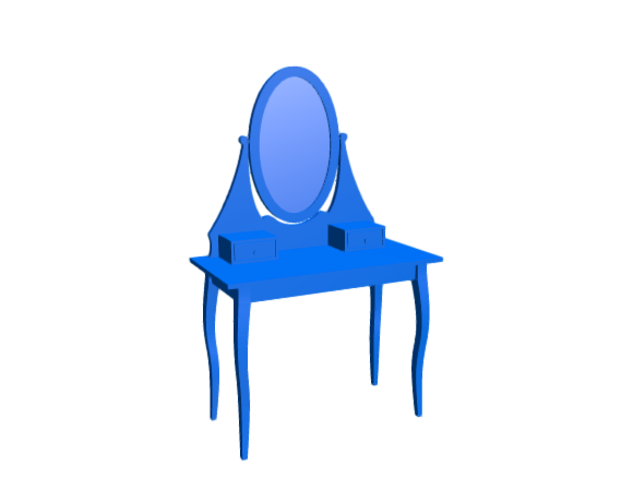 3D-Dimensions-Guide-Furniture-Makeup-Vanity-IKEA-Hemnes-Dressing-Table-Oval-Mirror
