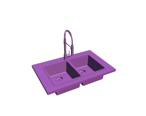 3D-Dimensions-Fixtures-Kitchen-Sinks-Norrsjon-Double-Bowl-Top-Mount-Kitchen-Sink