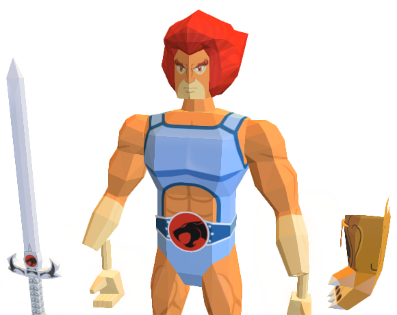 Lion-O ThunderCats Papercraft
